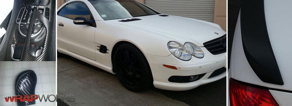Matte White Mercedes SL500