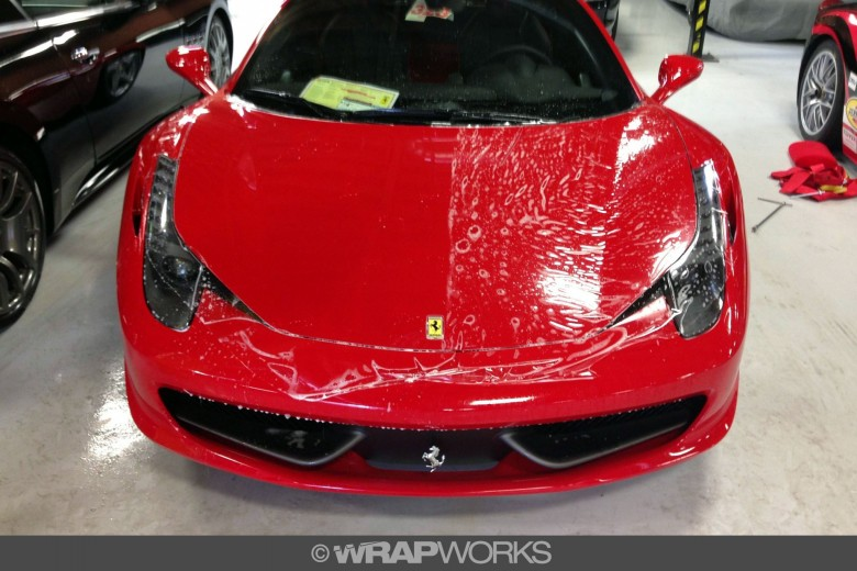Ferrari 458 Clear Bra Installation