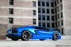Blue Chrome Aventador